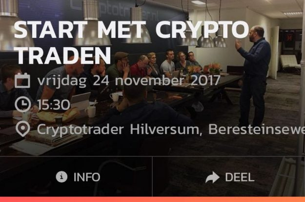 Cryptotrader Training – 24 november is UITVERKOCHT!